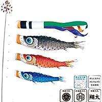 [徳永][鯉のぼり]庭園用[ポール別売り]大型鯉[3m鯉3匹][夢はるか][夢五色吹流し][撥水加工][日本の伝統文化][こいのぼり]