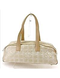 a01796c98436 (シャネル) Chanel ミニボストンバッグ ハンドバッグ ベージュ ニュートラベルライン ...
