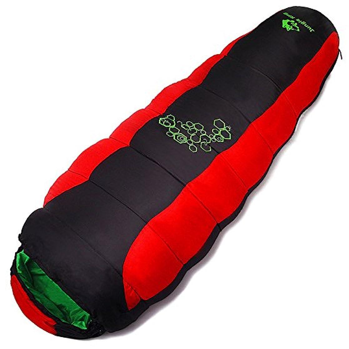 プレミアナラーバー舌Okiiting 超軽量の暖かい寝袋ポータブルキャンプの寝袋単一のデザイン通気性の防湿便利な圧縮赤い寝袋 うまく設計された