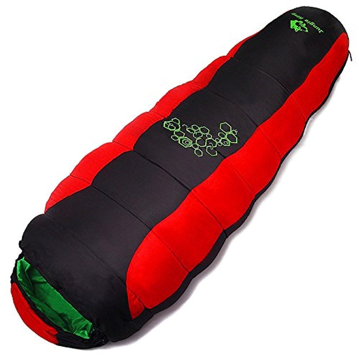 最初は似ている強制Okiiting 超軽量の暖かい寝袋ポータブルキャンプの寝袋単一のデザイン通気性の防湿便利な圧縮赤い寝袋 うまく設計された