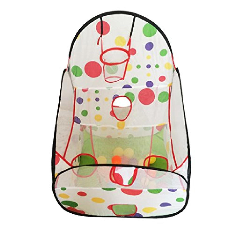 Fenteer 子供 ポータブル プレイテント 遊びテント バスケットボールフープ付き 屋内 屋外 おもちゃ プレゼント ギフト