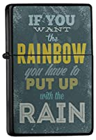 Pocket Windproof ライター Lighter Brushed Oil Refillable Rainbow