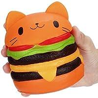 応力Reliever、woshisheiジャンボCartoon Catハンバーガー香りつきSlow Rising Exquisite Kidソフトおもちゃギフト