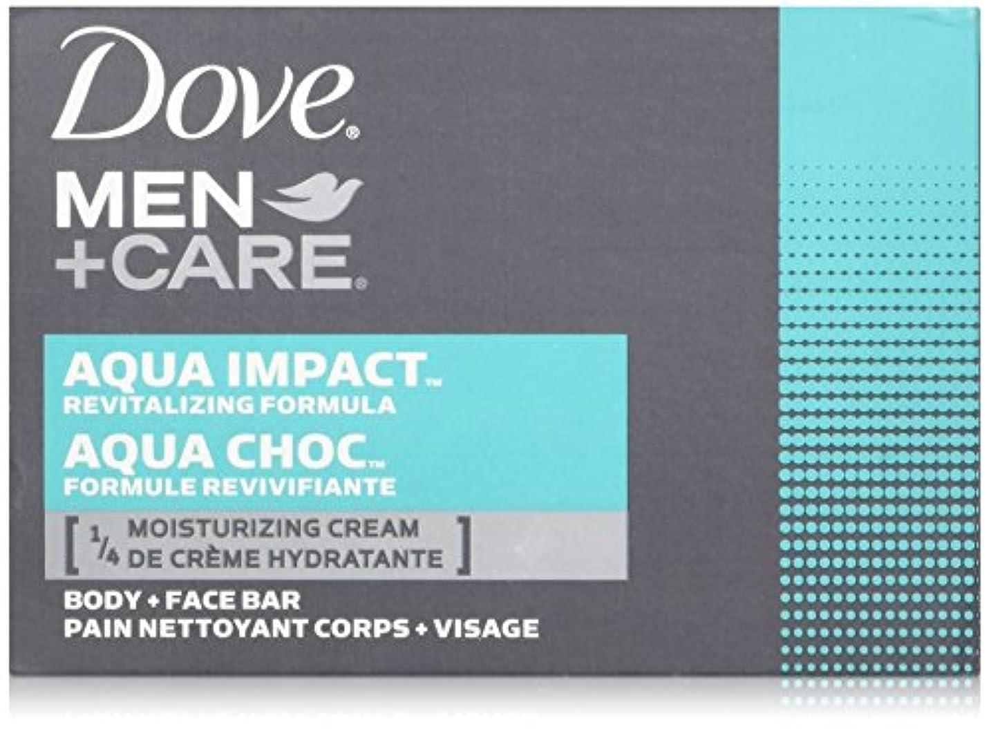 知恵脚本家罪人Dove Men + Care Body and Face Bar, AQUA IMPACT 4oz x 6soaps ダブ メン プラスケア アクアインパクト 固形石鹸 4oz x 6個パック
