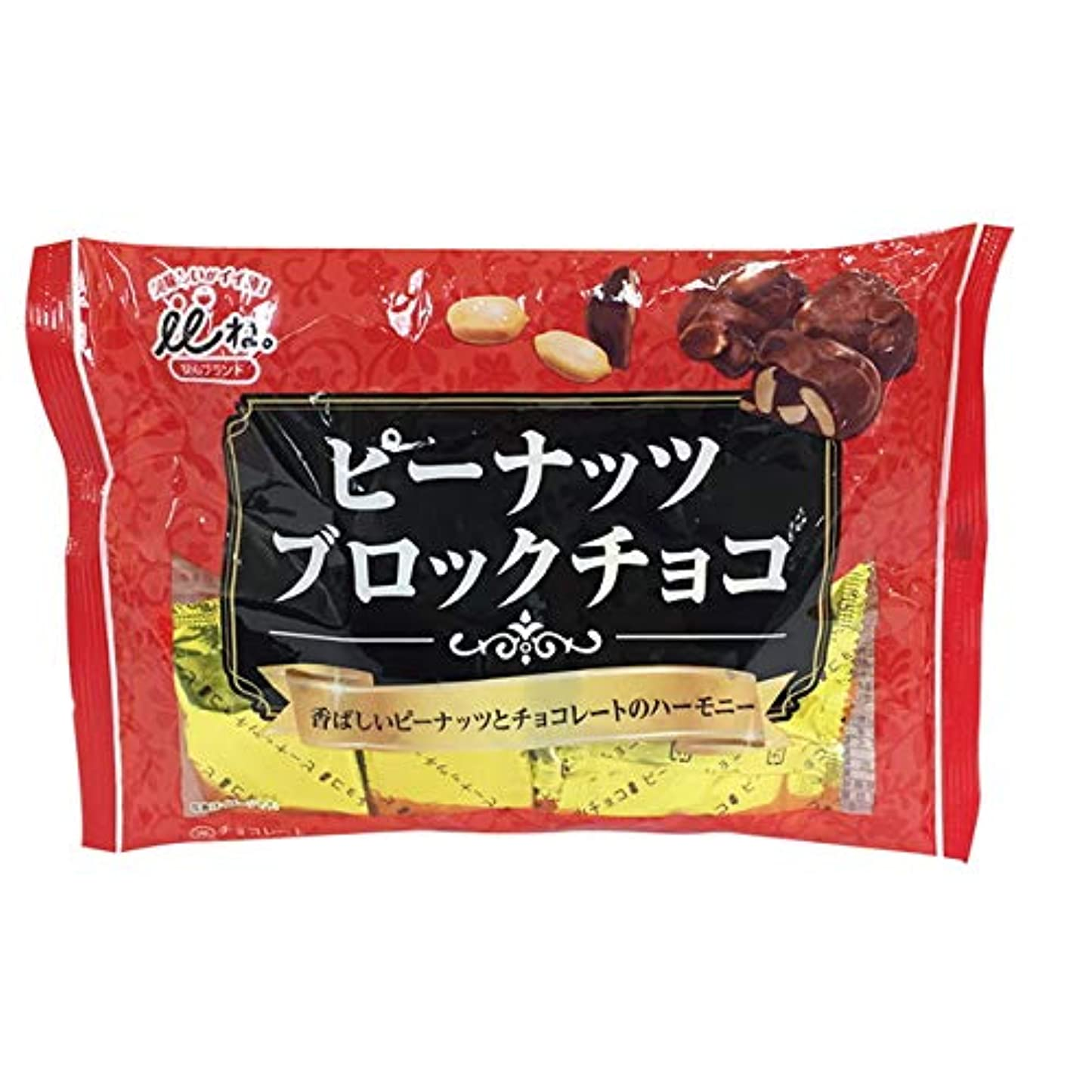 規模閉じ込める麦芽いいね。ピーナツブロックチョコレート 152G