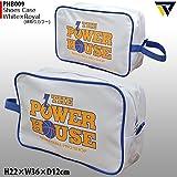 POWER HOUSE パワーハウス シューズケース PHB009 (ホワイト/ロイヤル)