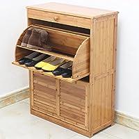 竹製 シューズボックス、長 66 * 幅29 * 高 90 Cm
