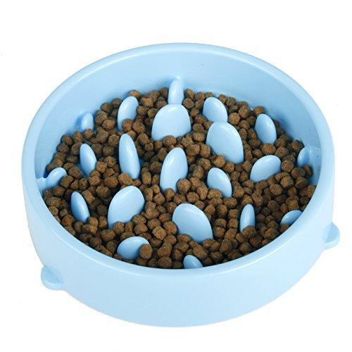 ARUMI ペットボウル 早食い防止食器 猫犬用 食器ボウル スローフード 餌入れ ダイエット 給餌 ゆっくり食べる ペット用品 小型 中型 ペット ブルー