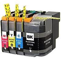 LC21e-4PK (LC21eBK LC21eC LC21eM LC21eY) 顔料 4色セット ブラザー(brother)用互換インクカートリッジ ICチップ付 残量表示機能付 (LC21e)