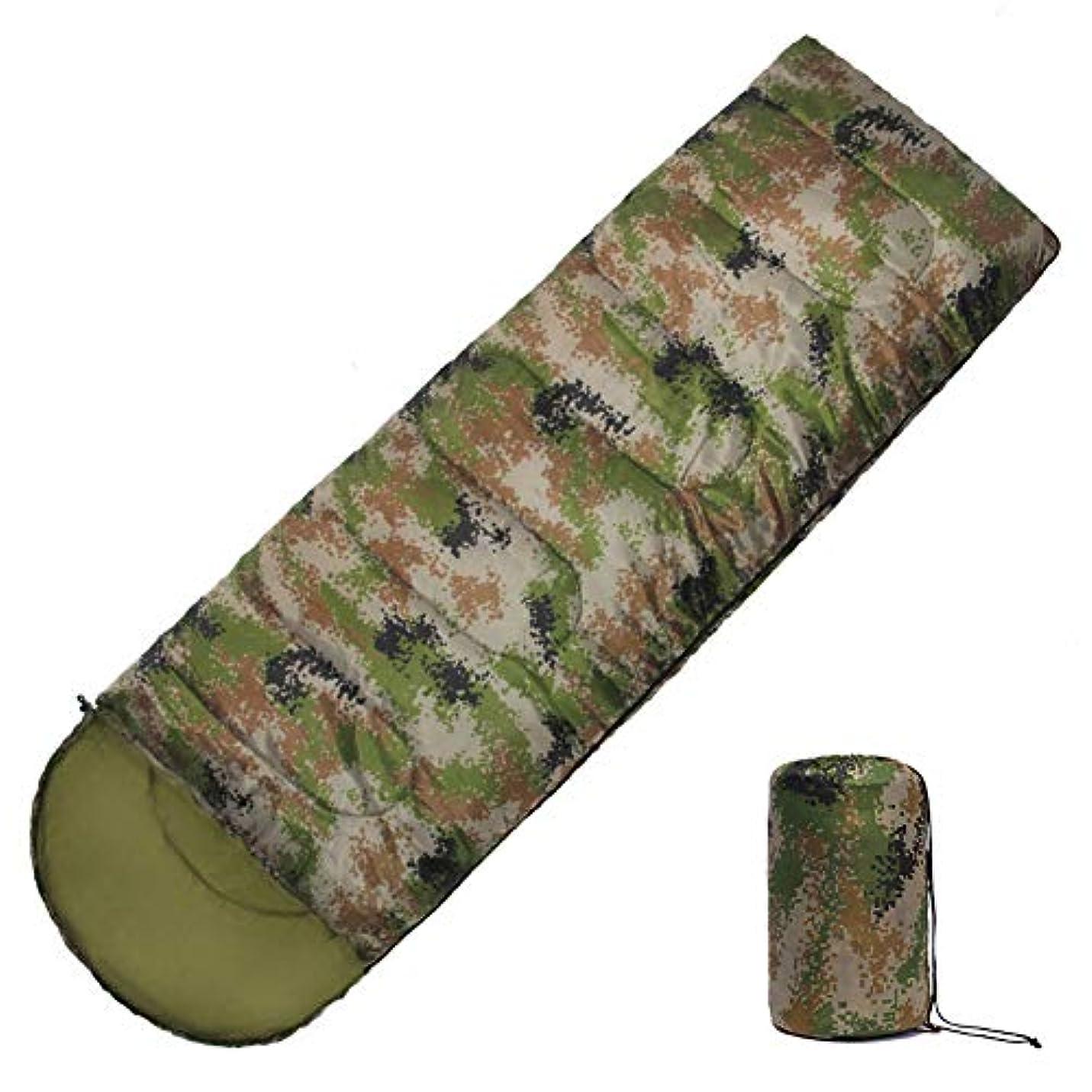 虐殺虚栄心明確なアウトドア迷彩寝袋、ポータブル圧縮バッグ旅行とキャンプ春夏と秋の屋内寝袋