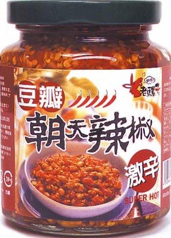 老騾子 豆瓣朝天辣椒 大豆入り 辛味 調味料 激辛 ラー油 240g