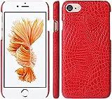 アディダス ポロシャツ iPhone7ケース 4.7インチ ケース カバー クロコダイル 背面カバー スマホケース スマホカバー 人気 おしゃれ かわいい (レッド)