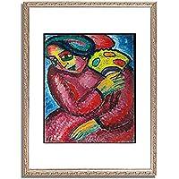 アレクセイ・フォン・ヤウレンスキー「Dance with yellow fan. 1912 」 インテリア アート 絵画 プリント 額装作品 フレーム:装飾(銀) サイズ:L (412mm X 527mm)