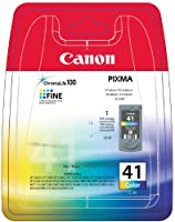Canon 0617B032 (CL-41) Printhead color, 308 pages, 12ml
