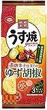 亀田製菓 うす焼グルメ 赤唐辛子仕立てのゆず胡椒 75g ×12袋