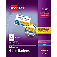 Avery Adhesive Name Badges 2-1/3 x 3-3/8 Inches Box of 480 (44395) [並行輸入品]