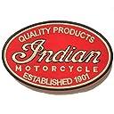 VTG XXs BIG SIZE 刺繍 特大 アイロンワッペン Indian Motorcycle:25.5cm x 16.5cm