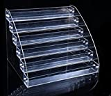 [SSKA.C]コレクション ケース 収納 ディスプレイ 展示 小物 フィギア 化粧品 ラック 棚 雛壇 コスメ 陳列棚 卓上 透明 (6段)