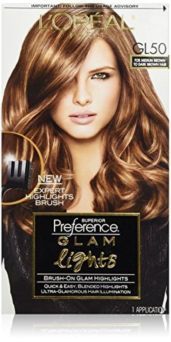 受け入れ好きいつもL'Oreal Paris Superior Preference Glam Lights Brush-On Glam Highlights, GL50 Medium Brown to Dark Brown [並行輸入品]