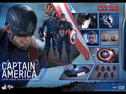 Captain America: Civil War 1/6 Scale Movie Masterpiece Figure - Captain America Captain America: Civil War Figures [병행수입품]-