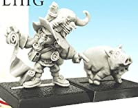 28mm Miniatures: Halfling with Pig