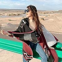 TIMWILL Women Oversize Cashmere-like Pashmina Wrap Shawl Warm Winter Thicker Travel Blanket Scarf Cross Stripes Scarf