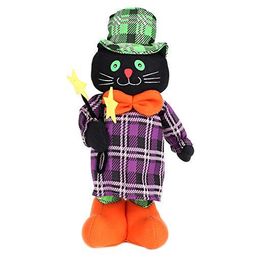 FTVOGUE ハロウィン ストレッチ 人形 おもちゃ 小道具 パンプキン 黒猫 魔女 白 ゴーストパーティー ペンダント 装飾 フェスティバルデコレーション black cat FTVOGUEb4ygc65oxr-02
