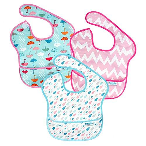 バンキンス 油が落ちるスタイ3点セット【日本正規品】スーパービブ 柔らかくて軽量 洗濯機で洗えてすぐ乾く お食事用防水ビブ 6~24ヶ月 Girl Assorted S3-G67