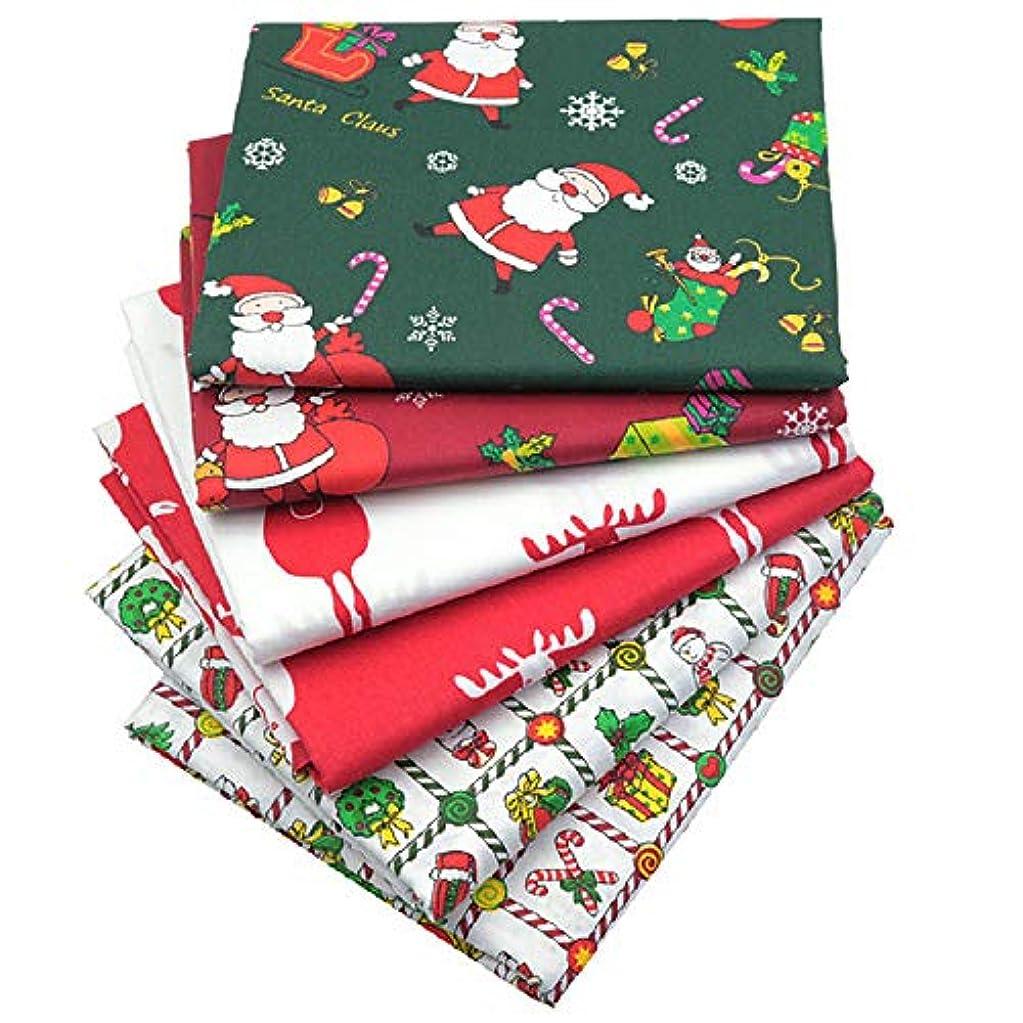 ハンディキャップタンパク質マンハッタン6つの小品クリスマスの飾り布の漫画クリスマスシリーズコットンツイル印刷束四半期縫製スクエアファブリックDIY手作りパッチワークの設定,50*50cm