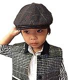 (ビグッド)Bigood キッズ 子供用 ベレー帽 帽子 ハット ハンチング帽 女の子 男の子 キャップ アウトドアハット お出かけ カジュアル(ブラウン)