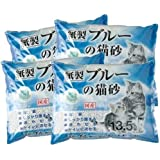ブルーの猫砂 13.5L×4袋