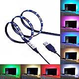 LED テープライト 2m 防水 60灯 RGBカラー 全20色 全23発光パターン イルミネーション 調光 USB接続 カット可能 テレビ モニター バックライト PR-TAPELIGHT