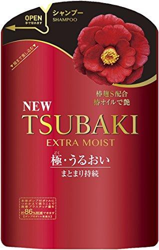 TSUBAKI エクストラモイスト シャンプー 詰め替え用 (パサついて広がる髪用) 345ml