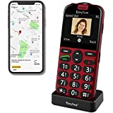 Easyfone Prime-A4 Unlocked SIM-Free Senior Mobile Phone, GPS Big Button Hearing Aids Compatible Easy-to-Use Cell Phone with C
