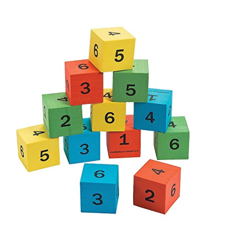 数学数Dice ( 12パック) Foam。1 1 / 2