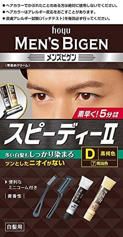 素朴なスリンク液化するホーユー メンズビゲン スピーディーII D (黒褐色)1剤40g+2剤40g [医薬部外品]