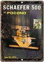 Schaefer At Pocono 金属スズヴィンテージ安全標識警告サインディスプレイボードスズサインポスター看板建設現場通りの学校のバーに適した