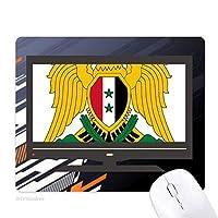 シリアアジア国家エンブレム ノンスリップラバーマウスパッドはコンピュータゲームのオフィス