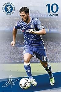 チェルシー(Chelsea) 16-17 オフィシャル ポスター(エデン・アザール) SP1386(80)