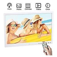 デジタルフォトフレーム13インチHDデジタルフォトフレーム16:9 USB/SDカードスロットとリモートコントロールデジタル画像付きワイドスクリーンLEDスクリーン,White