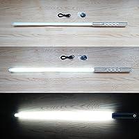 スターウォーズ 高性能 FX ライトセーバー HG 充電式 シルバー柄 白発光