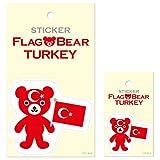 ムーングラフィックス ステッカー 国旗 クマ トルコ SET138