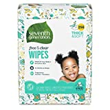 Seventh Generation Baby Wipes, Free & Clear Refill with Tape Seal, 256 count