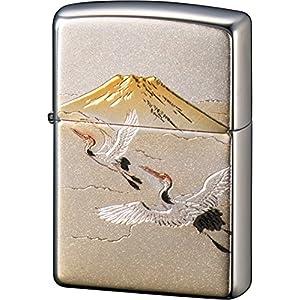 ZIPPO ライター 電鋳板 鶴富士 シルバーの関連商品9