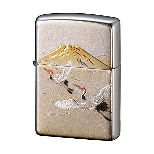 ZIPPO ライター 電鋳板 鶴富士 シルバーの商品画像