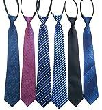 (ニュートゥ) NEWTO 簡単着脱 ネクタイ メンズ 6色6本 紳士ネクタイセット ファスナー ワンタッチ ビジネス 冠婚 葬祭