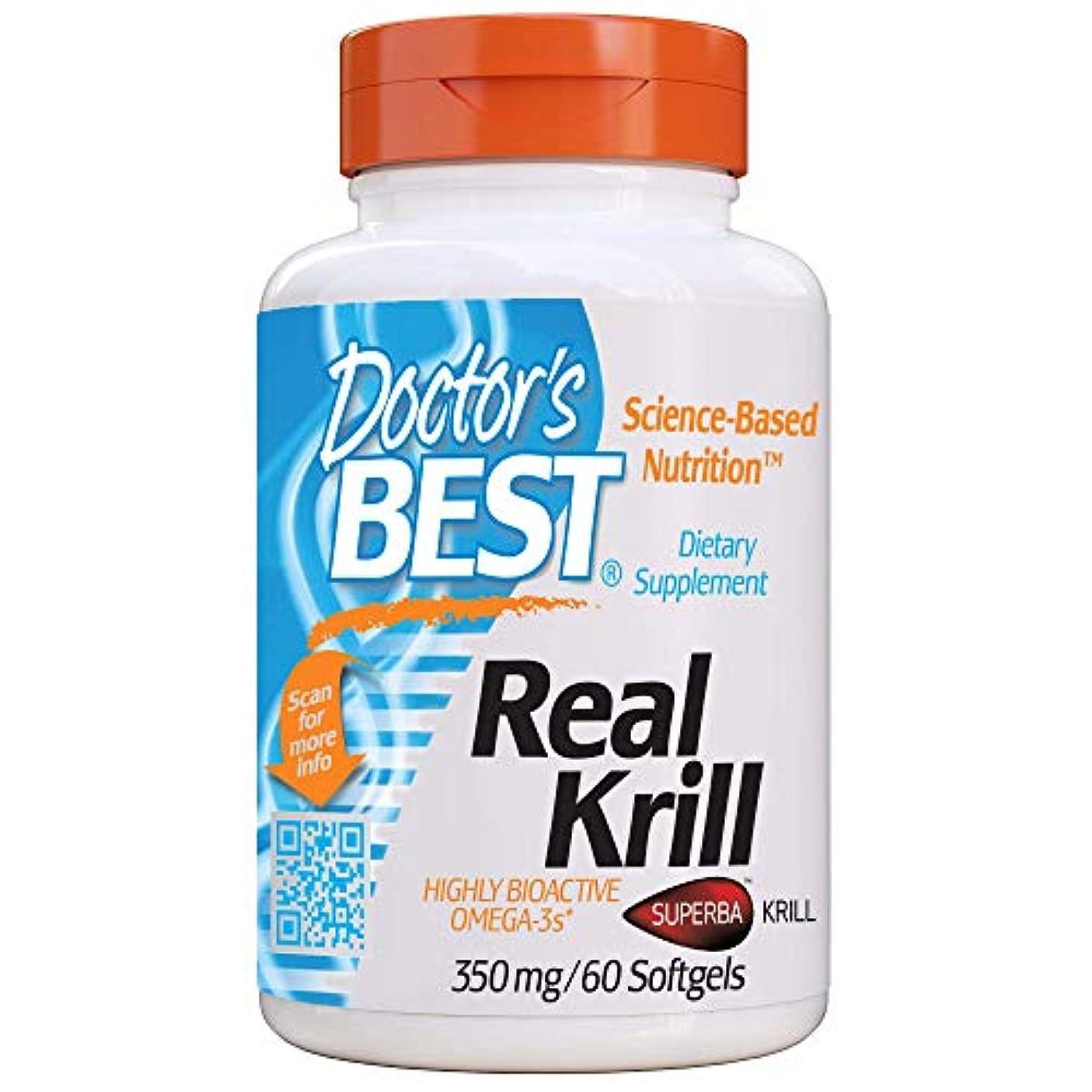 壁コントローラつまらない海外直送品 Doctors Best Real Krill, 60 sofgels