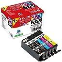 キヤノン インク Canon プリンターインク BCI-371 370/5MP (標準)5色パック対応ジットリサイクルインクカートリッジ キヤノン 日本製 JIT-AC3703715P