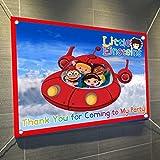 Little Einsteins Largeビニールバナー屋内または屋外サインポスター背景、パーティーFavor装飾、30インチx 24インチ、2.5' X 2'、ディズニーJr。