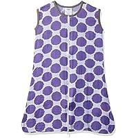 Bacati Muslin Ikat Dots Wearable Blankets Sleep Sack, Purple/Grey, Medium by Bacati